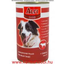 Alfi Dog kutyakonzerv 1240g marhás